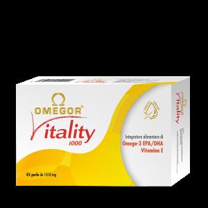 Integratori di Omega 3 OMEGOR VITALITY 1000 è un integratore alimentare di acidi grassi omega 3