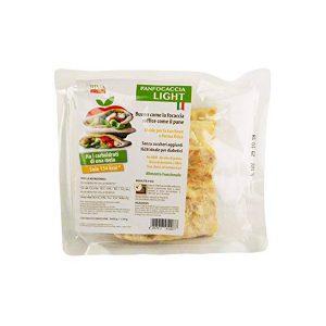 Panfocaccia Light RI.MA Benessere 120 grammi è buono come la focaccia, soffice come il pane. Ideale per la tua forma fisica, senza zuccheri aggiunti. No Ogm, no olio di palma, ricca di fibre e proteine. Alimento funzionale. Busta con due panfocaccia da 60 g ciascuno.