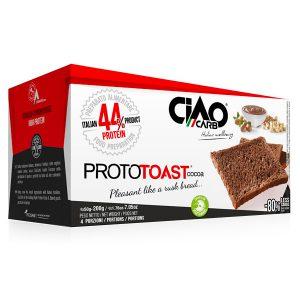 ProtoToast CiaoCarb sono delle fragranti e gustose fette tostate pronte da assaporare al cacao