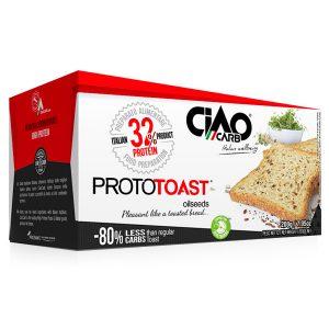 ProtoToast CiaoCarb sono delle fragranti e gustose fette tostate pronte da assaporare ai semi oleosi