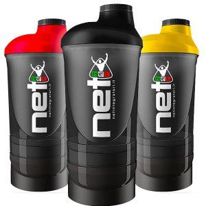Smart Shaker 700 ml con tre scompartimenti. Ideale per la realizzazione dei tuoi cocktali nutrizionali proteici.