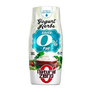 Yogurt & Herbs Natural Zero 320 g è una salsa gusto yogurt alle erbe aromatiche con edulcorante. Senza glutine. Ideale per carne e verdure.