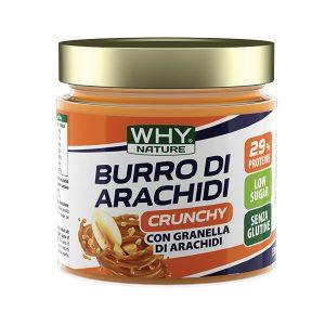 Burro di arachidi Crunchy Why Nature 350g