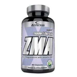 ZMA Anderson Research 60 capsule è un prodotto a base di zinco e magnesio, arricchito con vitamina B6, progettato al fine di migliorare la spinta anabolica aumentando la secrezione endogena di ormoni anabolizzanti. Questo integratore è caratterizzato da una forma brevettata, che associa covalentemente zinco/monometionina a zinco/magnesio aspartato e vitamina B6. Le suddette forme rappresentano le formulazioni meglio assorbibili dall'intestino umano.