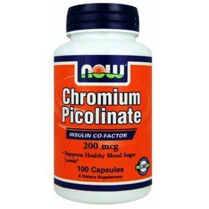 Chromium Picolinate Now Food 100 capsule è un integratore alimentare a base di Cromo picolinato. Utile in caso di scarso apporto con la dieta o di aumentato fabbisogno.